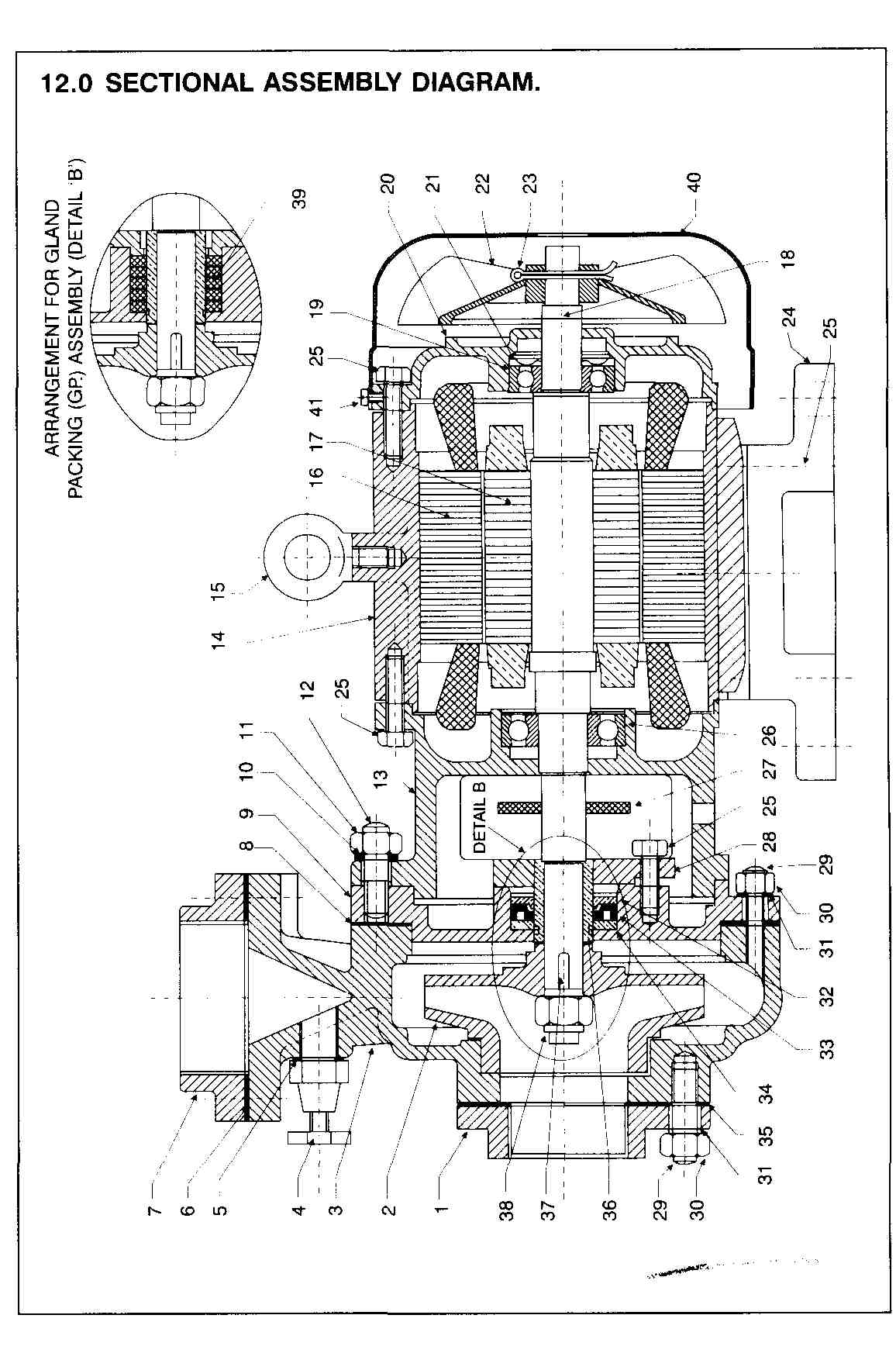 General Assembly Drawing And Spares List Motor